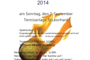 Juxx Doppel Turnier 2014 - SEKTION TENNIS