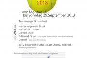 Ergebnisse im TENNIS - Vereinsmeister 2013