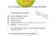 Vereinsmeisterschaften - SEKTION TENNIS